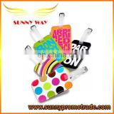 Colorful Silk-screen PU Leather Luggage Tags as Custom