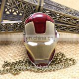 Avengers Necklace Chain Cartoon Pocket Watch Fashion Iron Man Superman Men Women Gifts