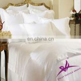 white plain flat bed sheet cotton and polyester