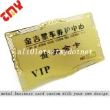 Custom Metallic Gold Metal Vip Business Card,High Quality Metal Membership Cards China