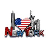 3D Metal  Fridge Magnet New York Design Tourist Souvenir