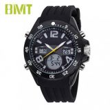 VT-AD1001 COOL SPORT BIG CASE SILICONE RUBBER BAND ANALOG DIGITAL MEN WATCH