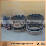 China Grey Granite Bathroom Wash Sinks, Stone Vessel Round Basins, Solid Surface Oval Sinks G603 Granite