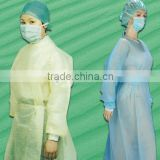 Cotton-knitted cuffs nonwoven disposable isolation gown