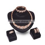 popular exaggerate jewelry set in 24k gold plating