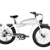 hidden battery fat tire beach cruiser ebike