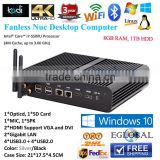 5 Gen Intel CPU Core i7 5500U Mini PC Windows10 intel HD 5500 Graphics 2*LAN port 2HDMI port Gaming PC Barebone Computer