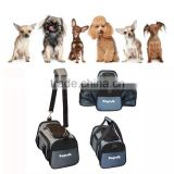 PT0405 Expandable Airline Approved IATA Carry On Travel Pet Dog Cat Soft-Sided Carrier Bag