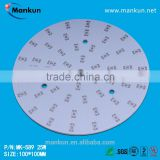 PCB maker 1.6mm board thickness 25 watt round 100mm diameter rigid aluminium mcpcb for down lighting