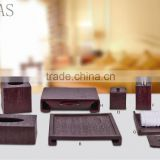 Hotel resin product bathroom accessories resin towel tray/tissue box