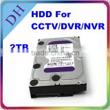 "new products Purple //3.5"" Hard Drive Disk 2 TB for Monitoring//used sata hard drive"