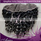 "3 Parts Brazilian Deep Curly Lace Frontal Closure 13""*4"" With Baby Hair Swiss Lace"