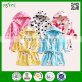 China supply super soft kids bath robe microfiber