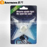 New Product 3 Mode Star Shape Silicon Spoke Bicycle Flash Tyre Led Wheel Light