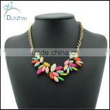 alloy cheap statement necklace leaf statement necklace