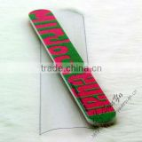 Colorful sand nail file with pvc pouch