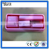 Money saving 3 in 1 multifuntional keyboard office stationery, useful brush stapler paper punch office stationery