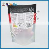 Mute oil printing on window food bag for bone packaging/custom make stand up clear heat resistant food bag