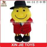 new design plush yellow doll custom figure dolls with clothing soft fabric doll toy with hat