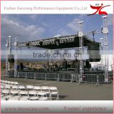 6 pillars outdoor concert stage roof truss design with sound line array system