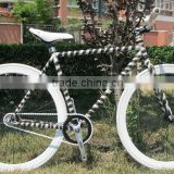 New design !700C specialized aluminum alloy rim steel frame fixed gear bike/ fixie bicycle