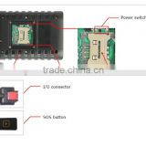 long life battery Cut external power off alarm, 2 analog inputs gps tracker with 3G accelerometer