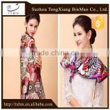 Wholesale digital silk scarf printing fashion silk shawl stole scarf shawl /kerchief /headband/hijab