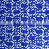 Cationic dye navy blue color 74 polyeser 22 nylon 4 spandex pattern elastic jacquard fabric
