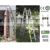 2x8 steps 5m aluminum folding portable adjustable telescopic ladder                                                                                                         Supplier's Choice