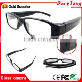 Free sample 1080P HD camera spy module hidden glasses camera Fashion Design glasses with mini spy cam