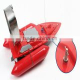 promotional custom logo golden suppler remote bait boats G02 RC fishing boats with bait casting