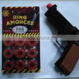8Shots Pistol Die cast gun ring caps fireworks