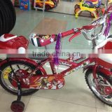 whole sale High quality Steel Frame Material red KIDS BICYCLE for baby girl