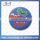 novelty animal shape custom fashion pomotion tin button badge