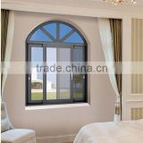 Arch design aluminium casement window