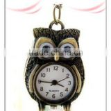 Fashion Vntage Antique Brass Owl Pcket Watch Pendant Necklaces HN1302