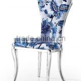 Classic Design Blue&White Porcelain Color Dining Room Furniture Dining Chair Banquet Chair