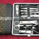 Hot Sale 12pcs stainless steel manicure set&nail clipper set,professional manicure pedicure set