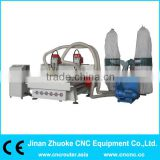 Woodworking CNC Router With 2 GC Air Cooling Spindles/Dust Collector/DSP/Vacuum Table ZK-1325-2