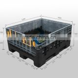 Heavy duty HDPE collapsible pallet box container with lid