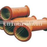 coal mining use Runkun-200 sreies industrial coal mining bimetallic wearing pipe fitting elbow Q235 or SS400(base metal)