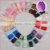 25mm width double faced 24 colors satin ribbon for jewerly making