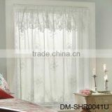 Latest design embroidered sheer voile curtain fabric