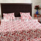 Traditional Rajasthani Floral Printed Indian Cotton fabric Jaipuri Bed Sheets Wholesale Manufacturer