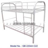 Double Decker Bed With White Colour For Bedroom Furniture, cheap metal beds, single bed, bunk bed for adult made by metal, white