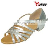 top-quality latin ballroom dance shoes for little girl pu or satin material wholesale