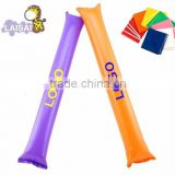 Latest cute inflatable pe promotional cheering bam stick