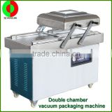 Output factory multifunctional small table type singer and double vacuum packaging machine