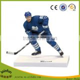 OEM design Hockey Player Hard Plastic sport Figure Craft