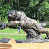 animal metal bronze garden high quality life size tiger statue